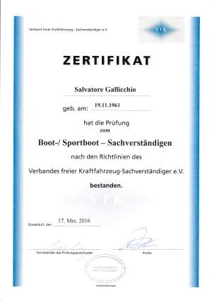 Boot-Sportboot-Sachverständigen