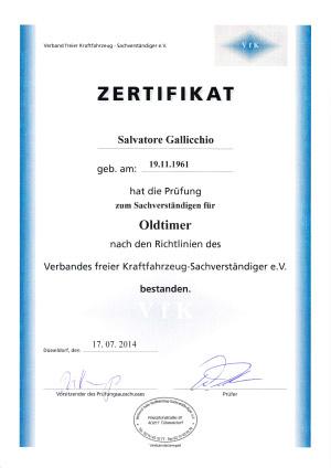 Zertifikat-Gutachter-Oldtimer
