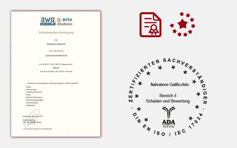 awg Certificate of Participation Landmaschinentechnik