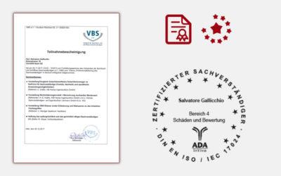 Professionalisierung des Sachverständigen VBS