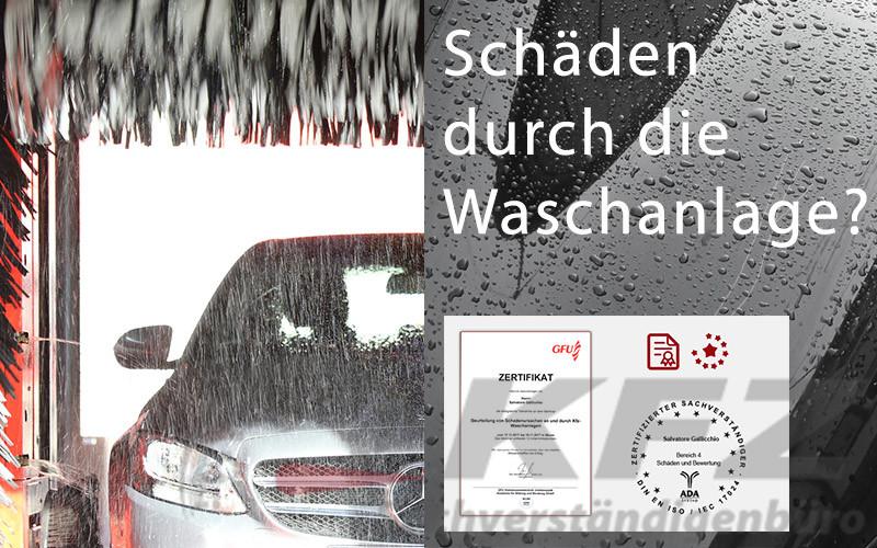 KFZ-Schaden in der Waschanlage