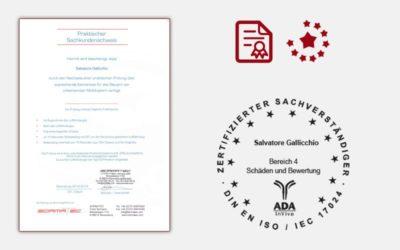Nachweis einer praktischen Prüfung über ausreichende Kenntnisse für das Steuern von unbemannten Multikoptern