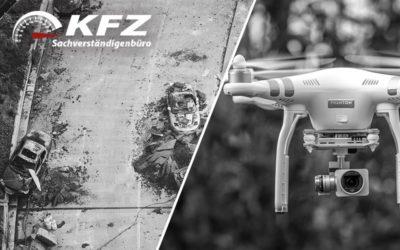 Die Vermessung per Drohne: KFZ Gutachter